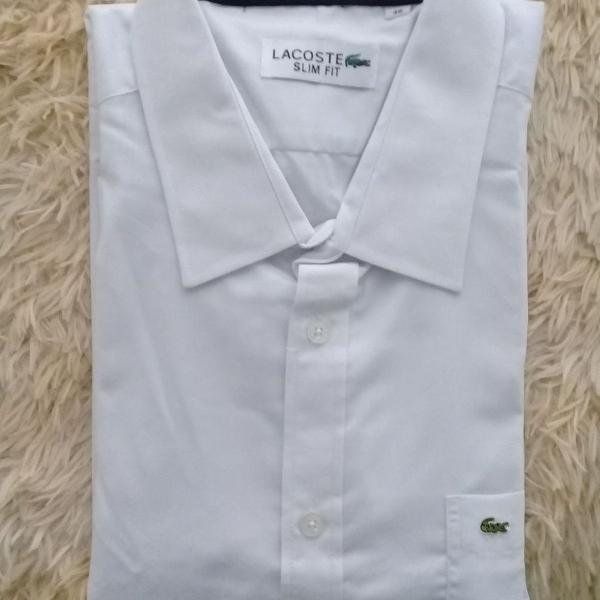 Camisa social lacoste com bolso manga longa tam.gg/46