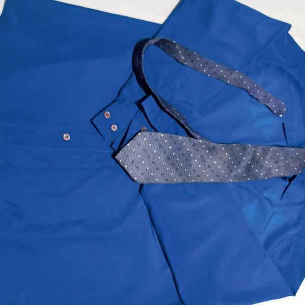 Camisa social masculino l tecido importado