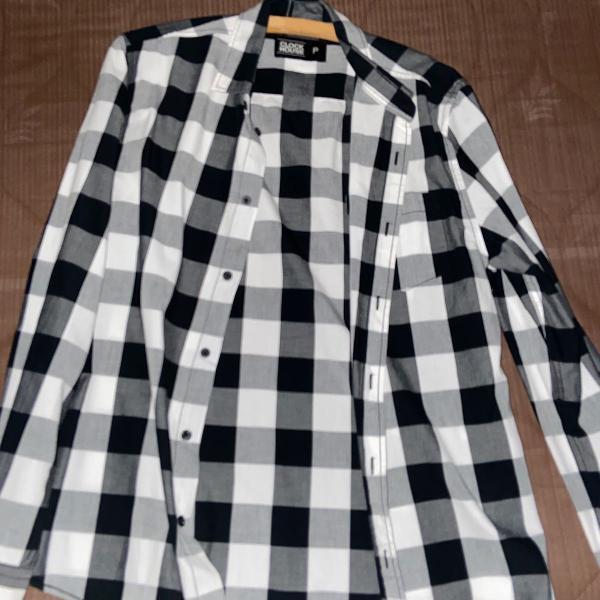 Camisa xadrez manga longa