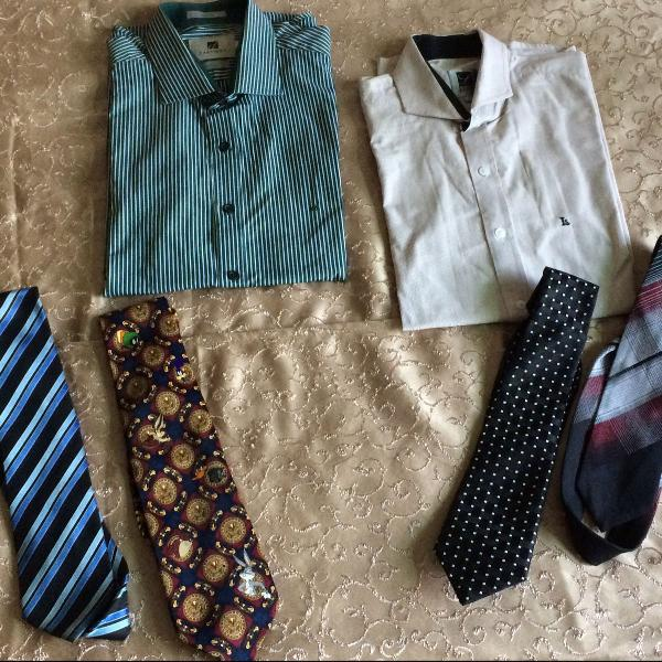 Conjunto de roupas homem social