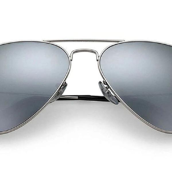 Culos de sol ray-ban aviator prata l 62014