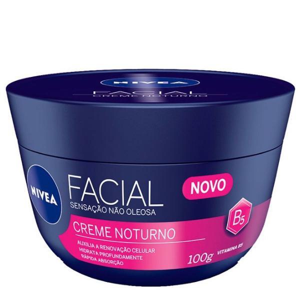Hidratante facial nívea - creme facial noturno - 100g