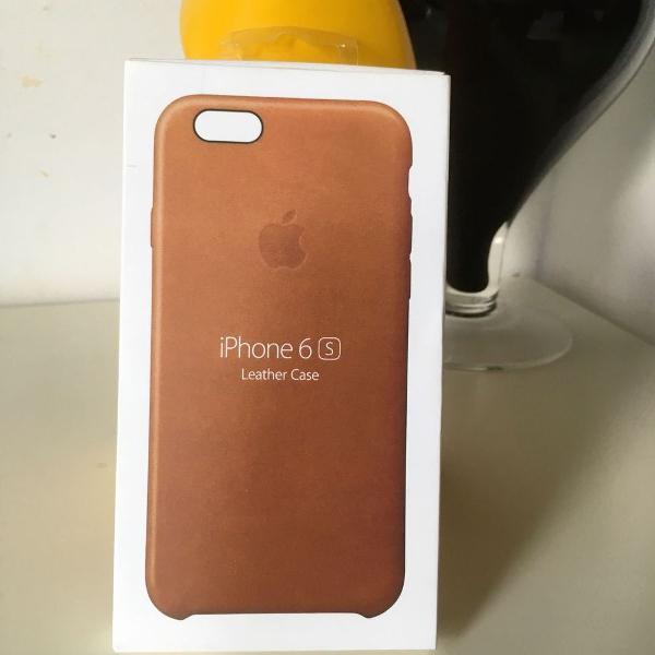 Iphone 6s apple case de couro