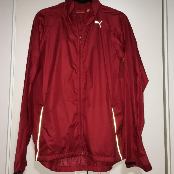Jaqueta corta vento puma vermelho