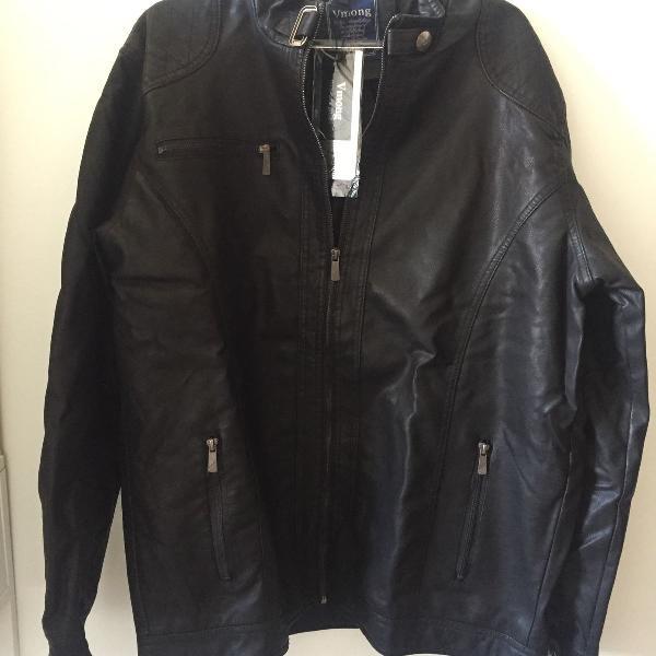 Jaqueta couro sintético masculina