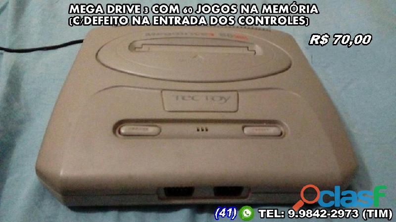 Mega drive 3 (leia descrição)