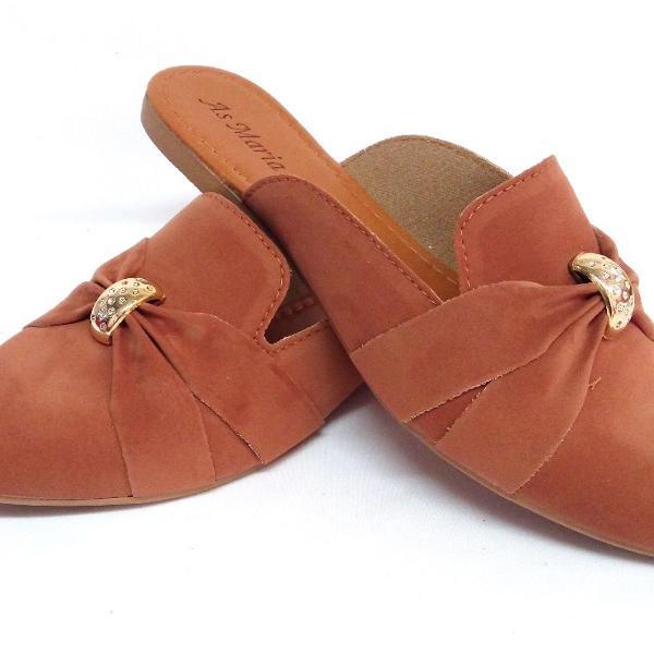 Mule sapatilhas tamanhos especiais confortável estiloso