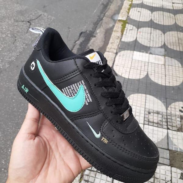 Nike air force preto e azul 41