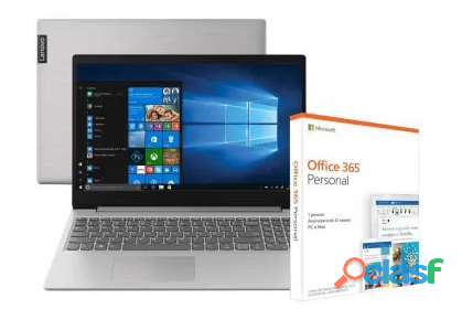 Notebook Lenovo Ideapad S145 15IWL Intel Core i5   8GB + Pacote Microsoft Office 365 Personal