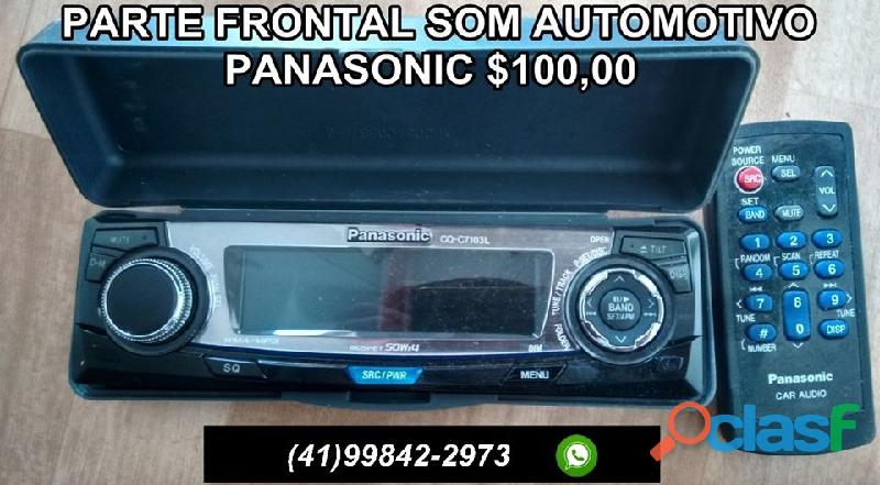 parte frontal som automotivo panasonic