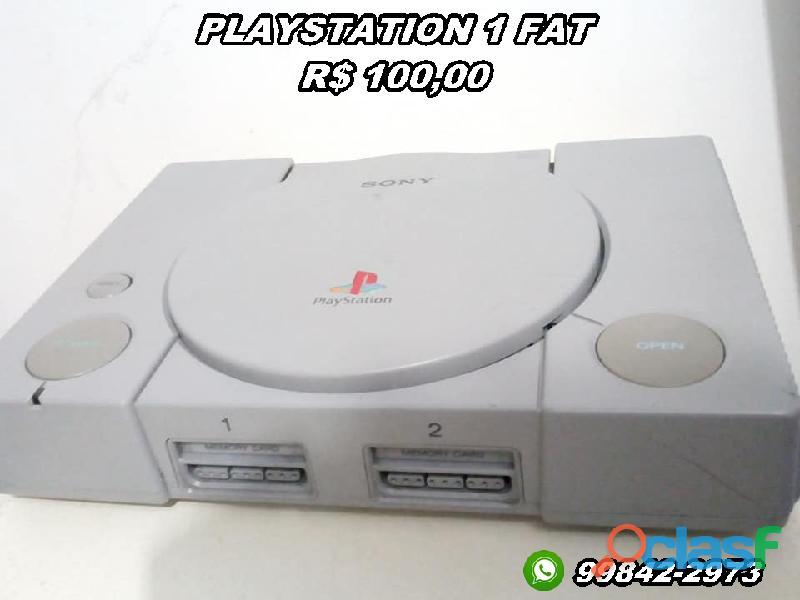 PlayStation 1 fat (leia descrição)