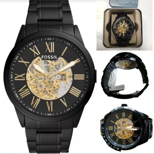 Relógio fossil masculino preto automático bq2092 original