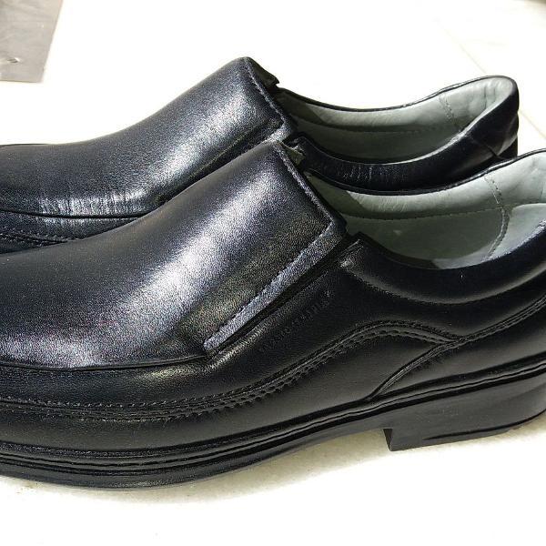 Sapato masculino preto em couro sapatoterapia fino