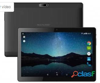 "Tablet Multilaser M10A Lite 8GB Tela 10"" 3G   Wi Fi Android 7.0 Proc. Quad Core Câmera Integrada Pre"
