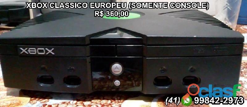 Xbox clássico(europeu) somente console