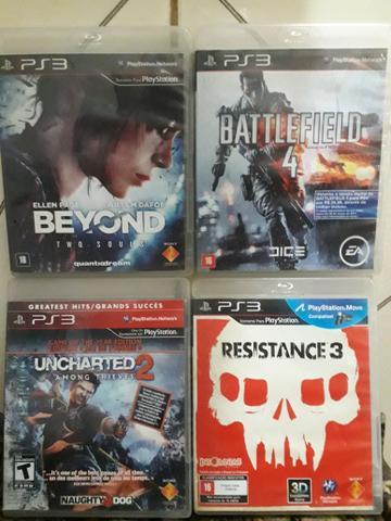 4 jogos de ps3 / playstation 3