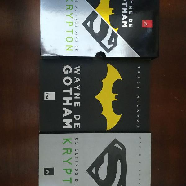 Box 2 livros wayne de gotham + livro batman arkham knight