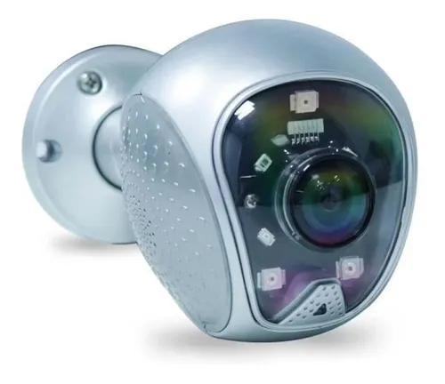 Câmera ip wifi externa lente 180° alarme led inibidor
