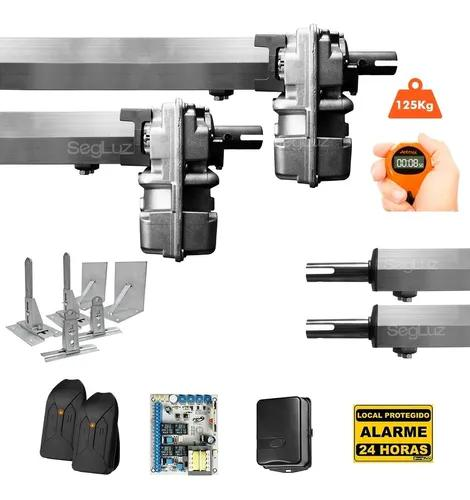 Kit motor portão eletrônico pivotante duplo ppa + 6