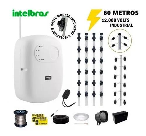 Kit p/60 m cerca elétrica intelbras + big haste 06