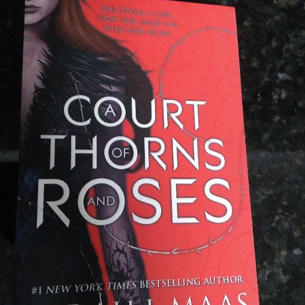Livro em edição inglês a court of thorns and roses