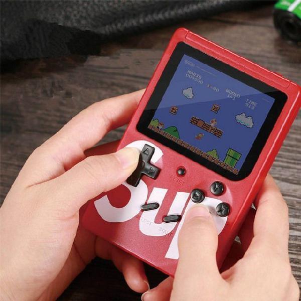Mini videogame retrô game boy de 400 jogos portátil