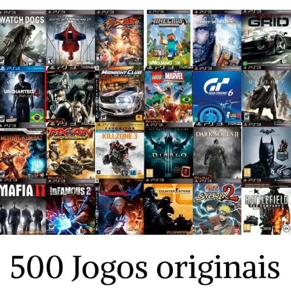 Pacote 500 jogos para ps3