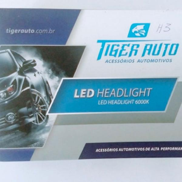 Par de lâmpada automotiva led headlight