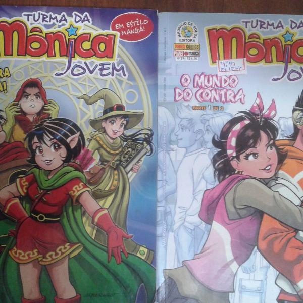 Turma da mônica jovem - n° 02 e 29 - lote com 2 volumes