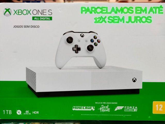 Xbox one all digital e controle xbox one em até 12x sem