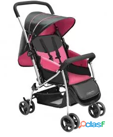 Carrinho de bebê multikids flip   0 a 15kg rosa