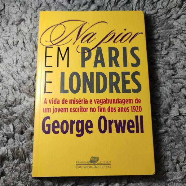 Clássico de george orwell. livro na pior em paris e