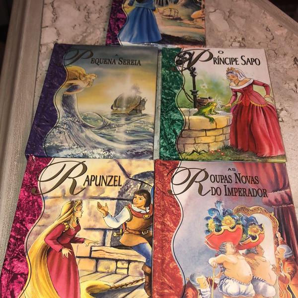 Conjunto de 5 mini livros de histórias infantis