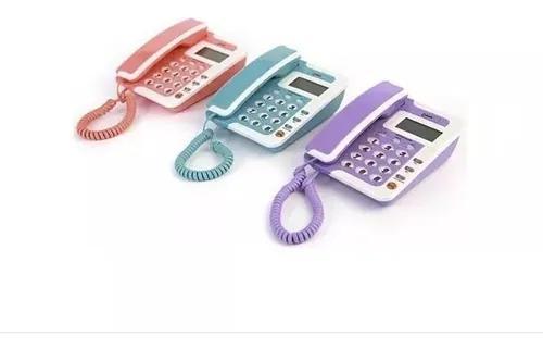 Aparelho de telefone fixo colorido