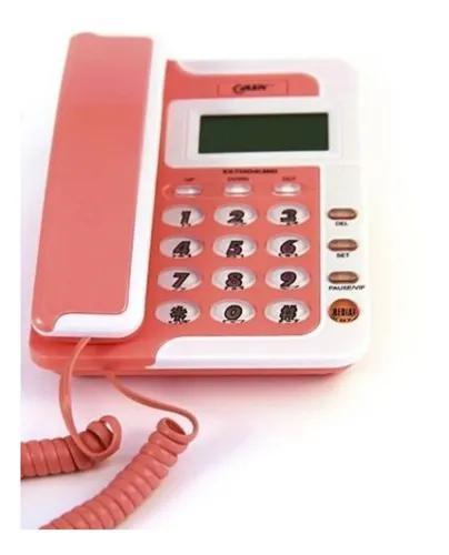 Aparelho de telefone fixo colorido c/ identificador de chama
