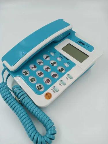 Aparelho telefônico colorido com identificador de chamadas