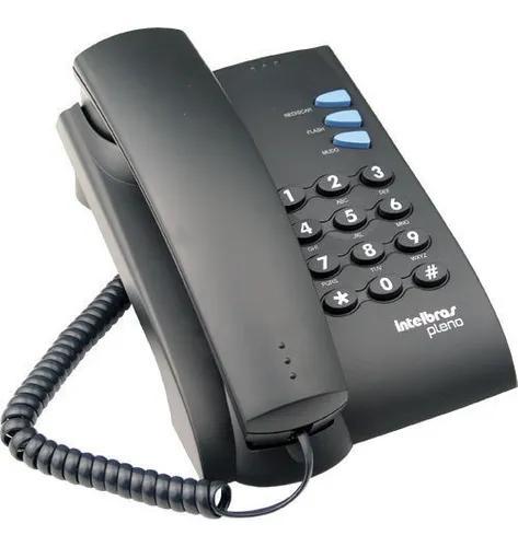 Aparelho telefonico residencial intelbras pleno preto/cinza
