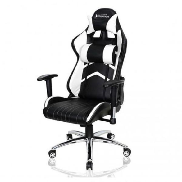 Cadeira gammer crystal branco/preto bch-25wbk bluecase