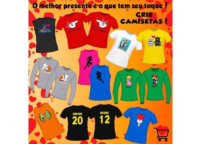 Camisetas personalizadas para o dia dos namorados