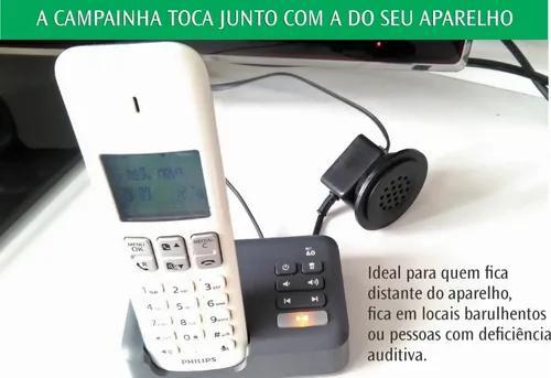 Campainha de telefone - para deficientes auditivos, idosos