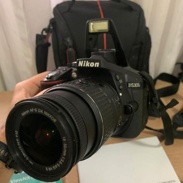 Câmera digital nikon d5300 wi-fi 24.2mp vídeo full hd +