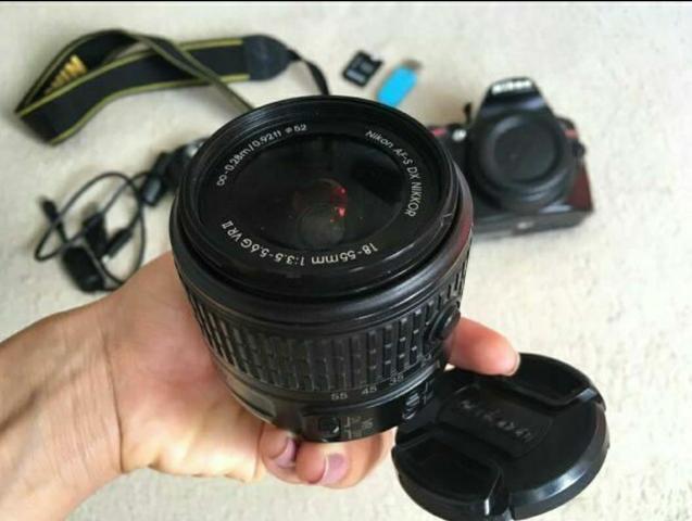 Câmera profissional dslr nikon d3200