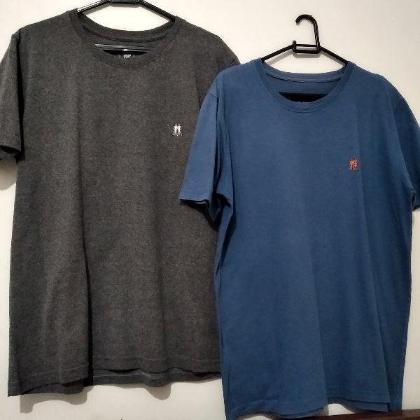 Dupla de camisetas polo wear tam m