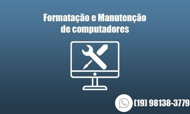 Formatação e manutenção de computadores e notebook's e