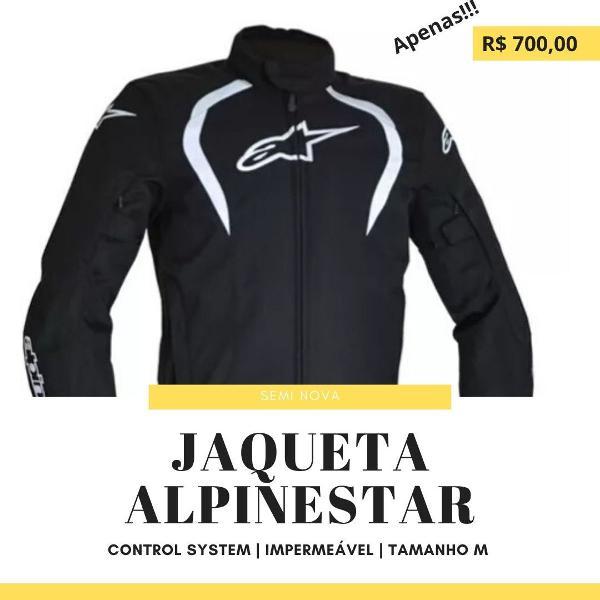 Jaqueta Moto Alpinestars caladan preta masculina