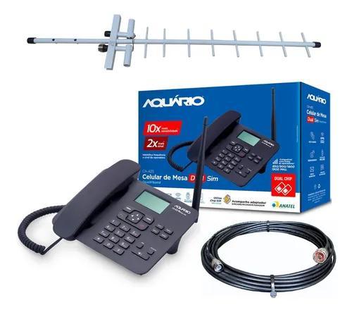 Kit completo de telefone rural desbloqueado ca-42s cabo 15m