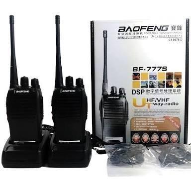 Kit radio comunicador baofeng bf-777s +fone de