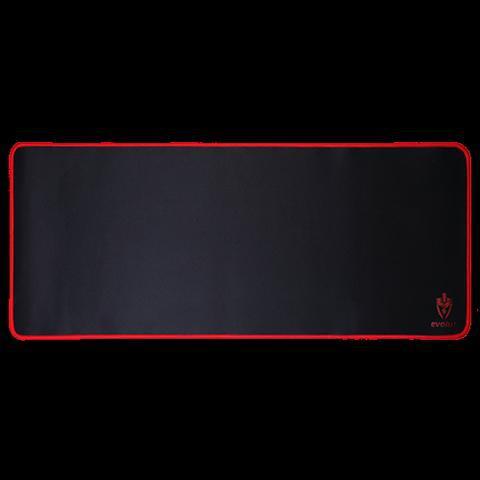Mouse pad gamer eg-402 black borda costurada speed - evolut