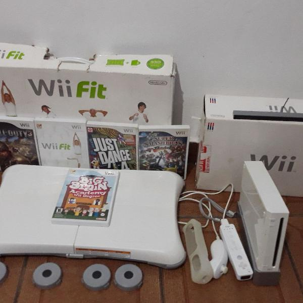 Nintendo wii completo! com wii fit.