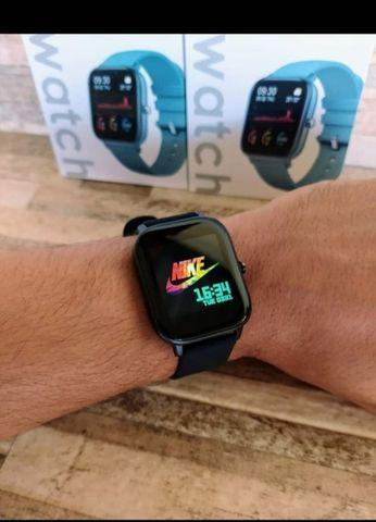 Relógio inteligente p8 - smartwatch - android e ios